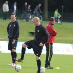 Training with the Belgian squad