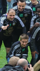 A young Dennis Praet celebrates the title a couple of years ago.