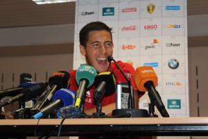 Eden Hazard - happy to be the main man. (copyright - John Chapman)