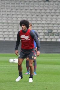 Marouane Fellaini ncould find himself on the bench
