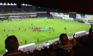 Zulte Waregem thank their fans after defeating Club Brugge last Thursday