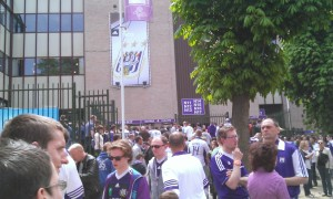 Anderlecht fans turn up for another play-off match.