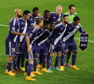 Anderlecht won the title last season with a late flourish in the playoffs.