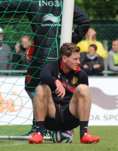 Jan Vertonghen - captain of Belgium tomorrow Copyright - John Chapman)