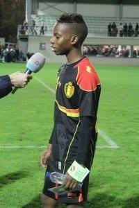 Charly Musonda Jr after a Belgium U17 game in 2012 (John Chapman copyright)