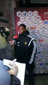 Musonda after playing for Belgium U21s in 2014 (copyright John Chapman)